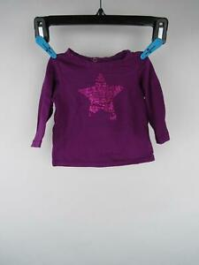 Made with Love by Place Girl's sz 6-9M Purple Cotton Graphic Long Sleeve T-Shirt