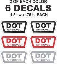 6 DOT Approved Bell Arai Shark AGV Shoei Snell Motorcycle Helmet  Vinyl Decals