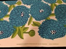 Marimekko Fabric PRIMAVERA 1 yd x 56 Free ship BLUE Cotton Maija Isola