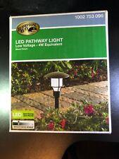 Hampton Bay Low Voltage Black Outdoor Integrated LED Landscape Path Light New