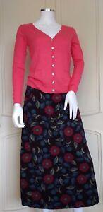 SEASALT White Sands Logan Flower Aubergine Skirt Pockets A-Line RP £75 UK 8 - 16