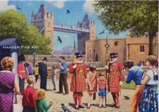 Tower of London Beefeaters London Tourist Blank Birthday Fathers Day Card