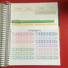 14 Weekend Planner Stickers for Various Types of Planners (#196)