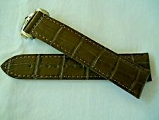 20mm LEATHER STRAP BROWN & DEPLOYANT CLASP for  OMEGA DIVER 300M Co-Axial