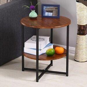 Iron Metal Coffee Table Living Room Minimalist Modern Round Home Furniture Decor