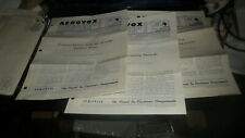 AEROVOX RESEARCH WORKER 3 ISSUES 1962 - 1963 W/ MAILING ENVELOPE