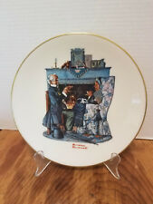 Norman Rockwell Plate Gorham Fine China Danbury Mint 1978 Tea for Two