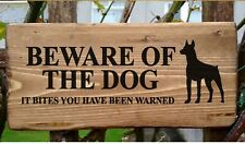 Beware Of The Dog Sign Warning Security Sign Guard It Bites You've Been Warned