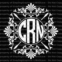 Custom Dream Catcher Monogram Vinyl Decal 2 or 3 Initials Sticker Full Size