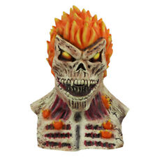 Ghost Rider Latex Skull Mask Full Face Scary Halloween Masquerade Cosplay Prop