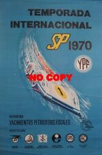 Affiche originale rallye du Maroc 1969 Alpine Renault sport automobile