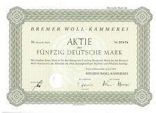 Bremer Woll - Kämmerei  50DM  Bremen Blumenthal 1979