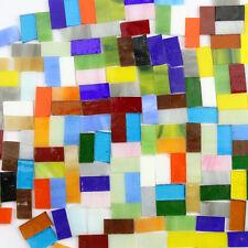 130Pcs/200g Decoration Crafts Rectangle Mixed Color Glass 2cm Mosaic Tiles TO455
