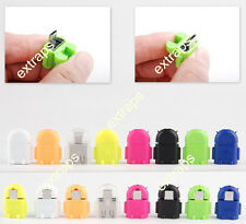 Cute Mini Android Robot Micro USB Host OTG Adapter fr Samsung Galaxy S3 S4 Note2