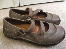 Kalso Earth Shoe Leather $125 Nexus Mary Jane Comfort Dark Oatmeal EUC Sz 7 B