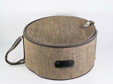 boite / valise à chapeau extérieur tweed Vintage Hat box travel luggage