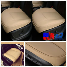 Universal Beige PU Leather Car Front Chair Cover Auto Seat Cushion Pad From US