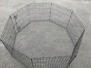8 Panel Metal Cage Crate Pet Dog Exercise Fence Playpen Kennel Indoor/Outdoor