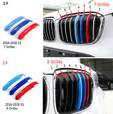 For BMW  2016-2018 X1 Front Center Grille Grill Cover Trim 3Color / 3pcs