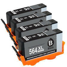 4PK Black HP 564XL Ink Cartridge for HP Photosmart 5510 5515 5520 6510 7520 7525