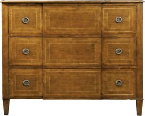 CHEST OF DRAWERS LOUIS XVI PORT ELIOT FRENCH BREAKFRONT CHERRY STRINGING