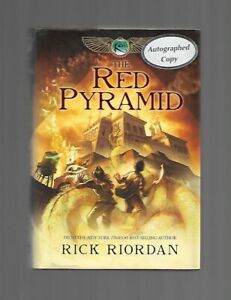 The Red Pyramid Rick Riordan HCDJ SIGNED 1st edition first printing 2010