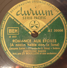 FRENCH 78 RPM- PARIS PARIS - JOSEPHINE BAKER - MADE IN ITALY - DURIUM