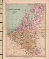 C1880 Victoriano Mapa ~ Holland & Belga