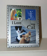 Impressions by Juliana Collection 3 Photo Frame 'i Love My Cat'' Metal Finish