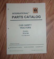 CUB CADET 70 TRACTOR & ENGINE ILLUSTRATED PARTS LIST CATALOG MANUAL