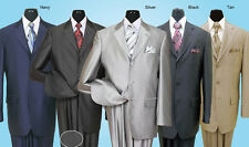 mens' shark  skin suit with pic stiching on lapies and pockets,3button sty 58025
