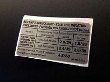 Mk2 Golf GTI Tyre Pressure Sticker - 191 010 043 L