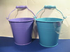 """Tin Pail. 4"""". Assorted Colors. Useful and Decorative. New."""