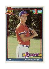 1991 Topps Chipper Jones Atlanta Braves #333 Baseball Card