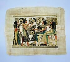 """EGYPTIAN Papyrus Painting - Large Size:  13"""" x 17"""""""