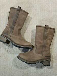 Cat Caterpillar Boots Size 4 Wide