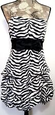 Ruby Rox Dress Size 9 Zebra Stripes Strapless Prom Gown