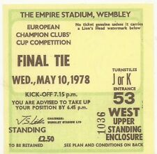 LIVERPOOL FC  - FC BRUGES - WEMBLEY 10/05/1978 - Ticket football  - COPIE/COPY