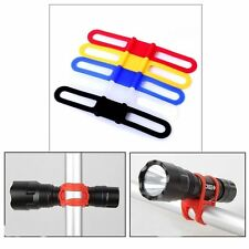 High Elastic Strap Universal Handle Bar Holder Mount Bicycle Torch Flashlight