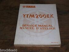 MANUEL REVUE TECHNIQUE D ATELIER ATC YAMAHA YTM 200 EK 1983 -> service manual