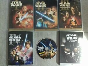 Lot de 3 doubles DVD star wars episodes 1,2,3 +3 simples dvd 4,6 en loose +bonus