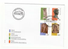 SWITZERLAND HELVETIA 1997 GALLO-ROMAN WORKS OF ART SET OF 4 ON FIRST DAY COVER