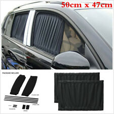Universal 50cm x 47cm Black VIP Car Window Curtain Sunshade Anti-UV Sun Visors