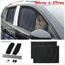 Universal 50cm x 47cm Black VIP Car Window Curtain Sunshade Anti-UV Sun Visors