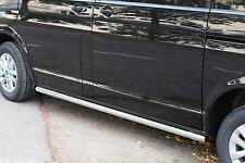 BARRES LATERALES X2 HOMOLOGUE INOX VW T6 15- 3400MM DIAM 60, GARANTI 6ANS,