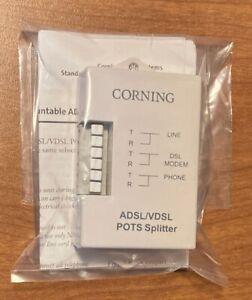 Corning DSL Filter POTS Splitter Phone Line ADSL VDSL Wall-Mount BRAND NEW
