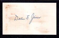 Dale E Nubs Jones ( Debut 1941 ) PHILLIES  SIGNED AUTOGRAPH AUTO 3x5 INDEX COA