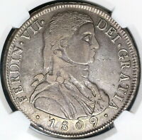 1809-So NGC XF 40 Chile 8 Reales Imaginary Bust Spain Colony Coin (19060201C)