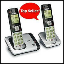 VTech DECT 6.0 Wireless Phones - Silver/Black | Includes 2 Cordless Handsets