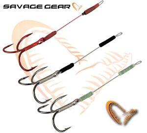 Savage Gear Carbon49 Stingers Treble Hooks 3Pcs All Sizes Carbon Pike Bass Sea